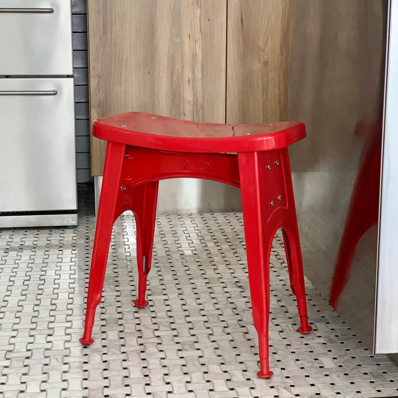 KITCHEN STOOL  RED