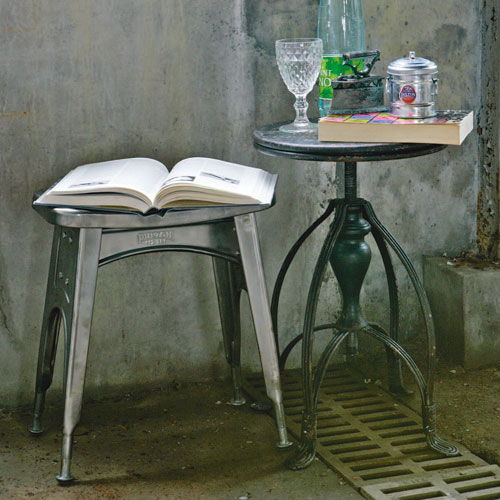 KITCHEN STOOL  GALVANIZED
