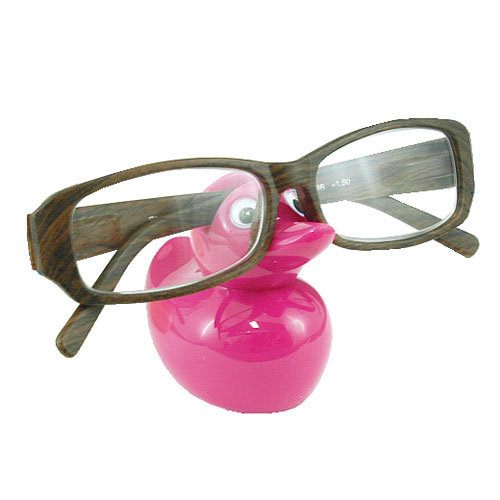 DUCK EYEGLASSES HOLDER PINK