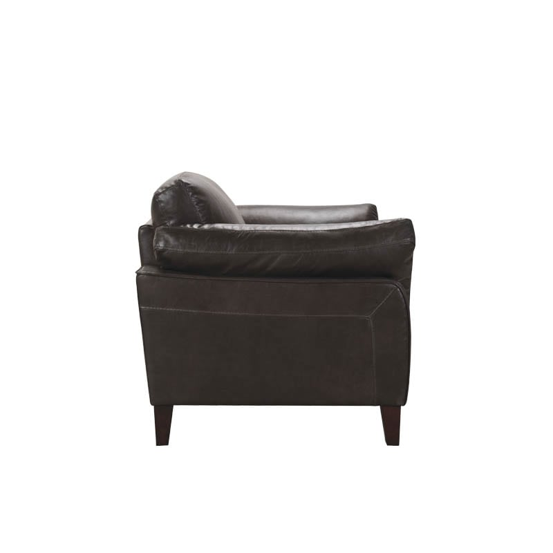 LEATHER SOFA 1 SEATER MUD GRAY