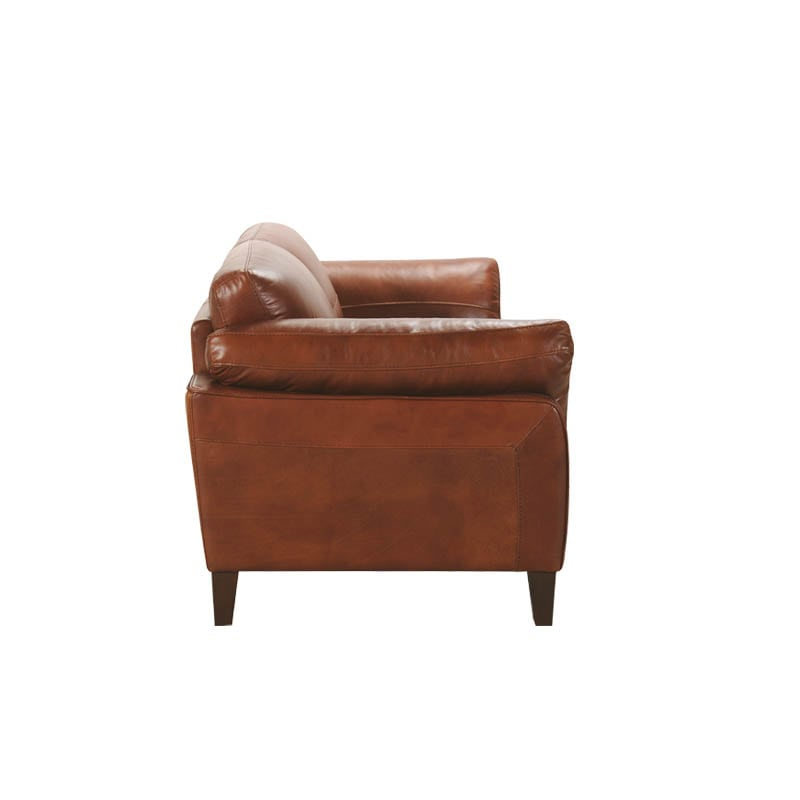 LEATHER SOFA 2 SEATER CHESTNUT