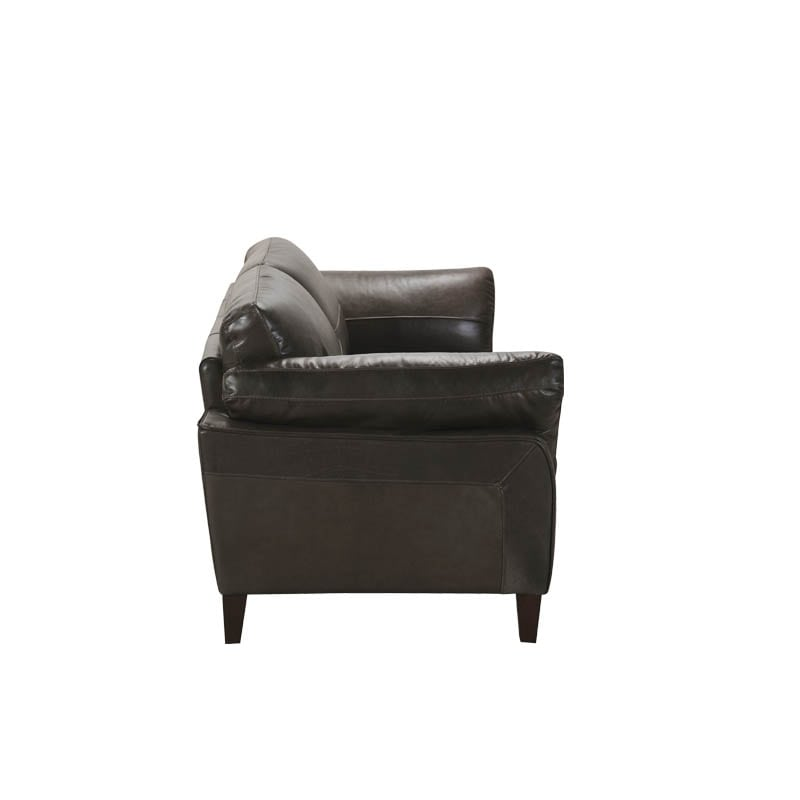 LEATHER SOFA 2 SEATER M.GRY