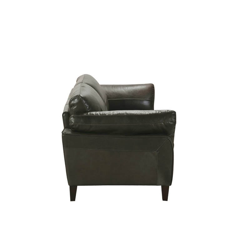 LEATHER SOFA 2 SEATER GREEN