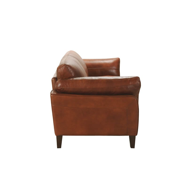 LEATHER SOFA 3 SEATER CHESTNUT