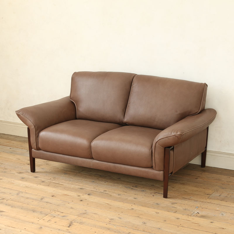 LEATHER SOFA 2 SEATER MOCHA