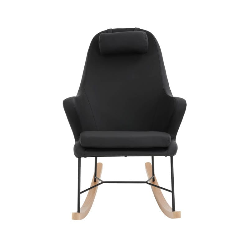 """ROCKING CHAIR PU BLACK"""""""