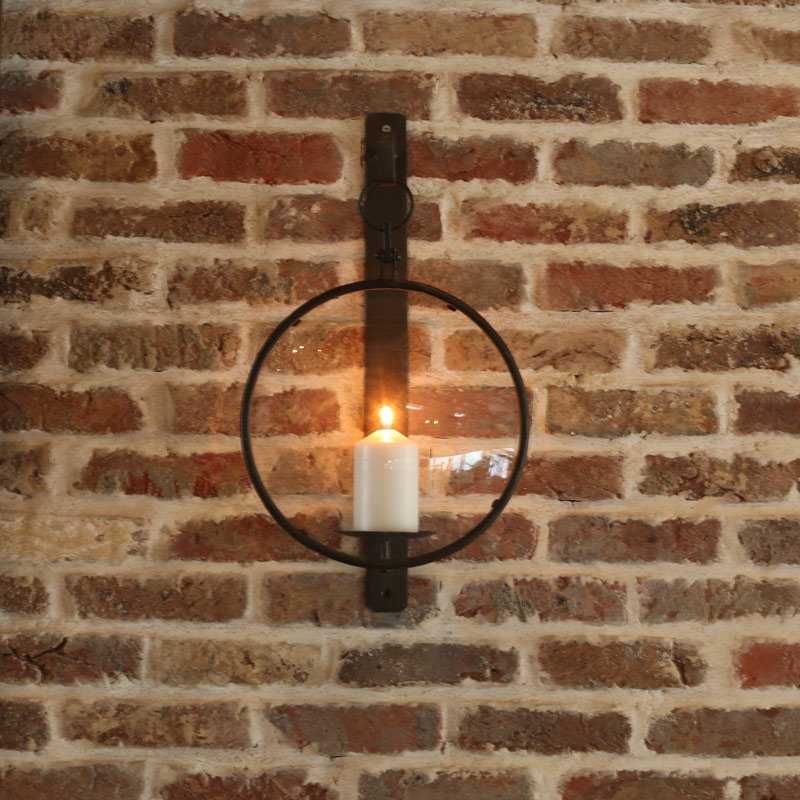 IRON WALL SCONCE ''DAFOE'' A.BLACK