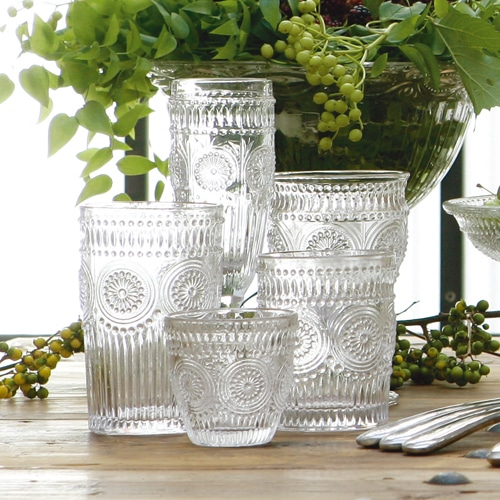 """GLASS TUMBLER L """"MARGUERITE"""""""