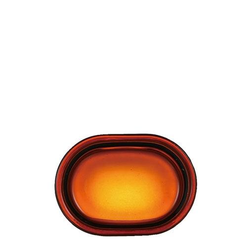 BEOBA GLASSWARE  DISH AMBER