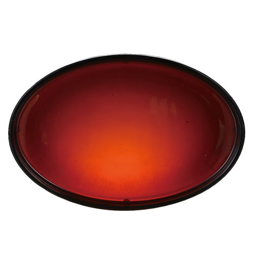 BEOBA GLASSWARE  TRAY AMBER