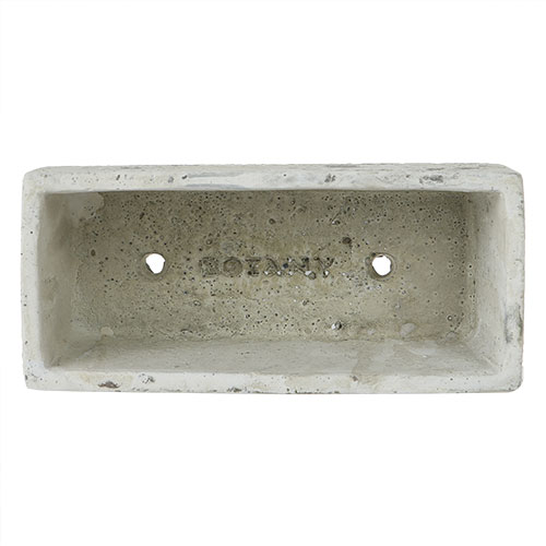SOLID PLANTER RECTANGLE L R.GRAY