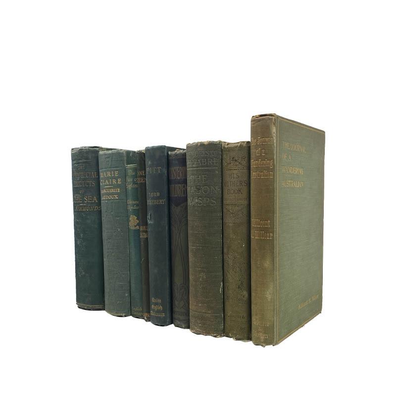 USED BOOK GREEN-25cm