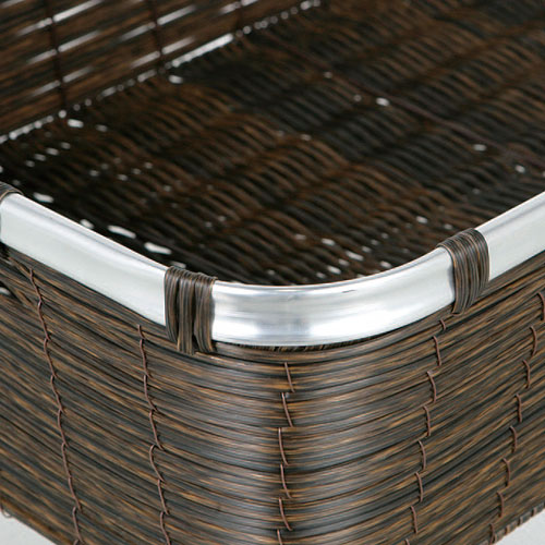 ARTIFICIAL RATTAN BASKET  XS
