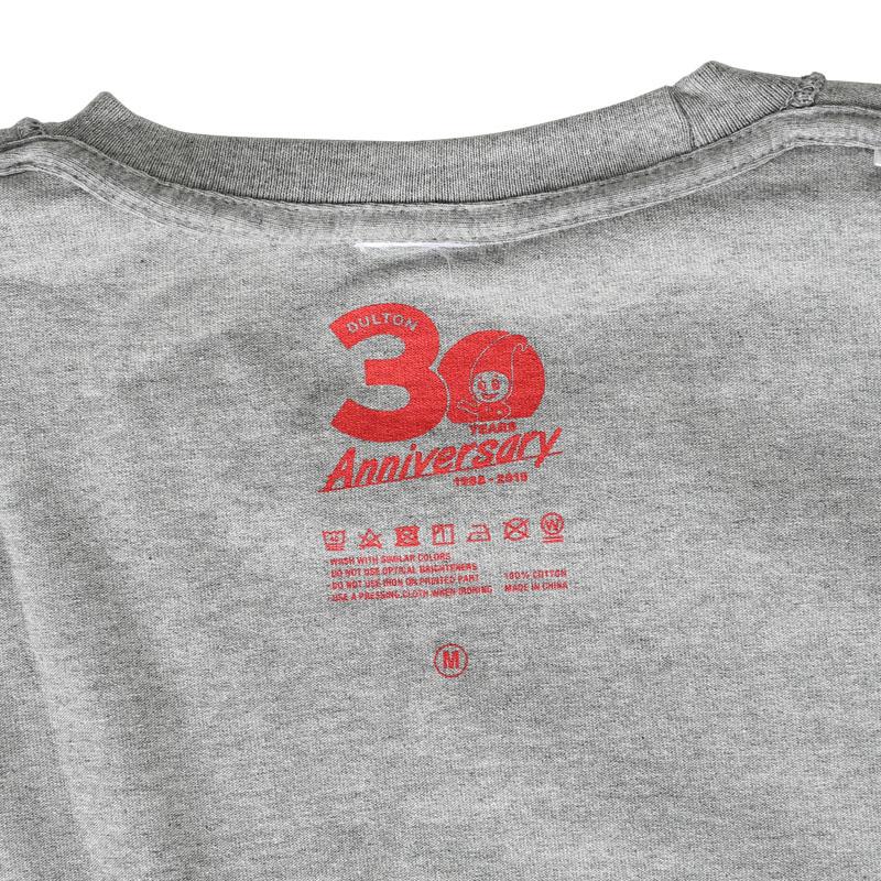 DULTON 30th-Anniversary T-SHIRTS GRAY S