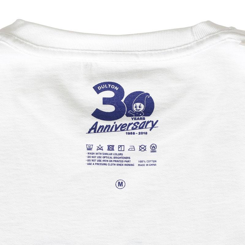 DULTON 30th-Anniversary T-SHIRTS WHITE S