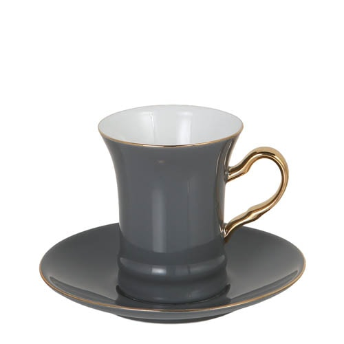 CUP & SAUCER Numelo 2 GRAY