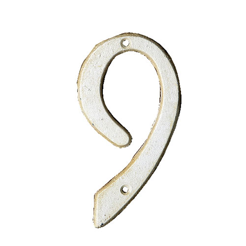 IRON NUMBER 6/9  IVORY