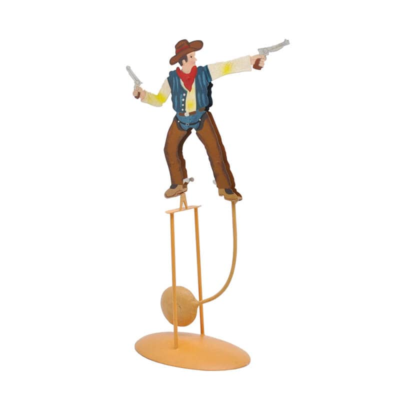BALANCE ORNAMENT COW BOY W/PISTOL