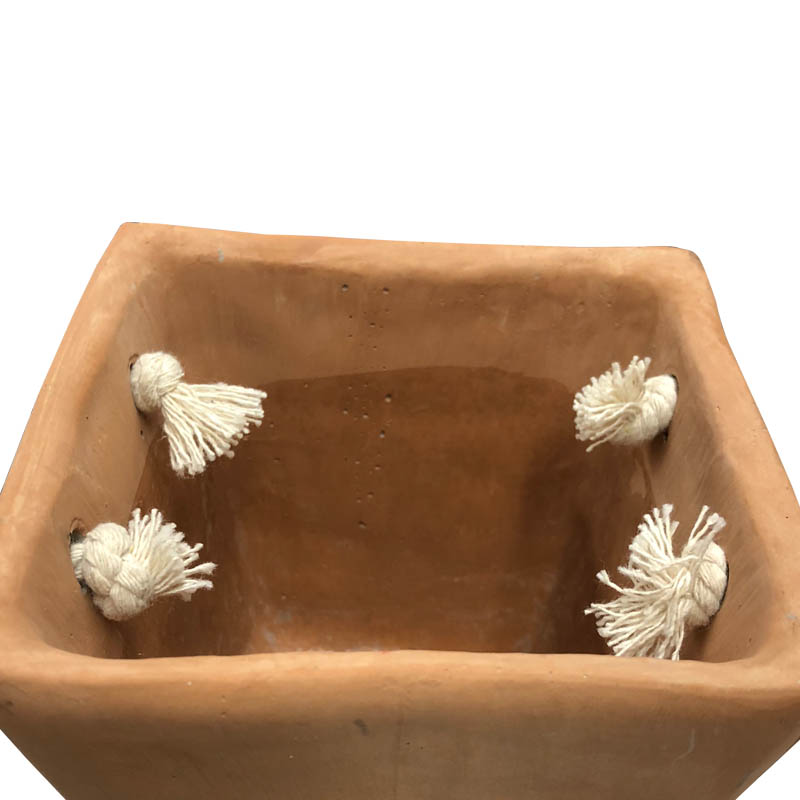 CEMENT BAG POT ALMOND SHELL L
