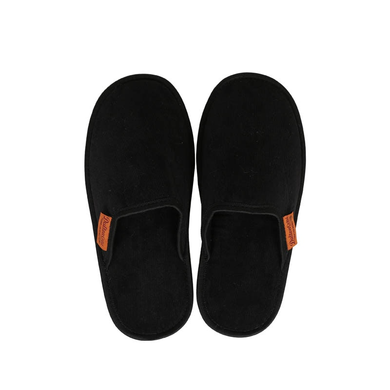 CORDUROY SLIPPERS MEN_BLACK