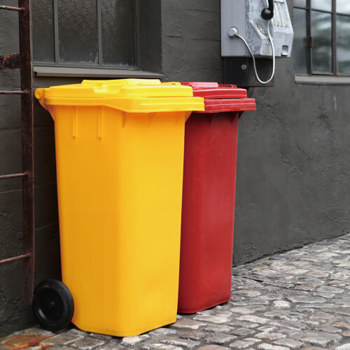 PLASTIC TRASH CAN 120L GRAY