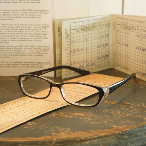 READING GLASSES  BK/GREEN 2.0