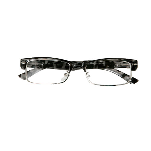 READING GLASSES BK TORTOISE 3.0
