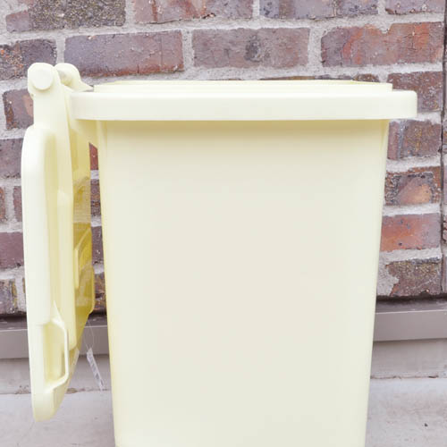 PLASTIC TRASH CAN 45L IVORY