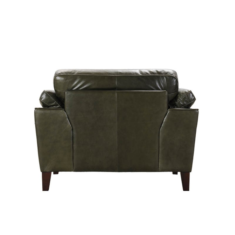 LEATHER SOFA 1 SEATER MOSS GREEN