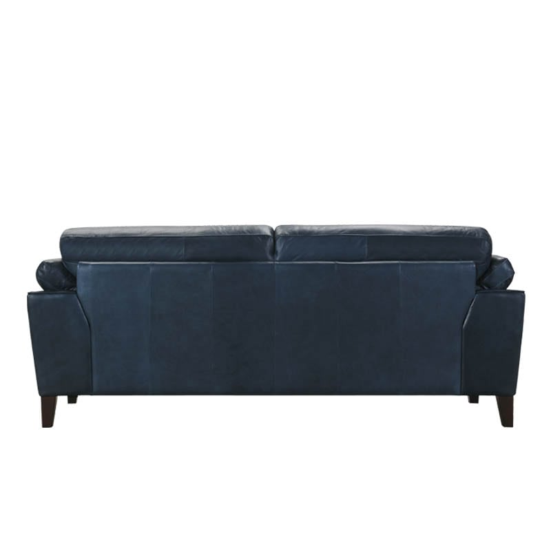 LEATHER SOFA 3 SEATER FRENCH NAVY