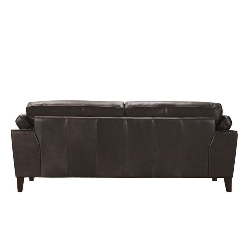 LEATHER SOFA 3 SEATER MUD GRAY