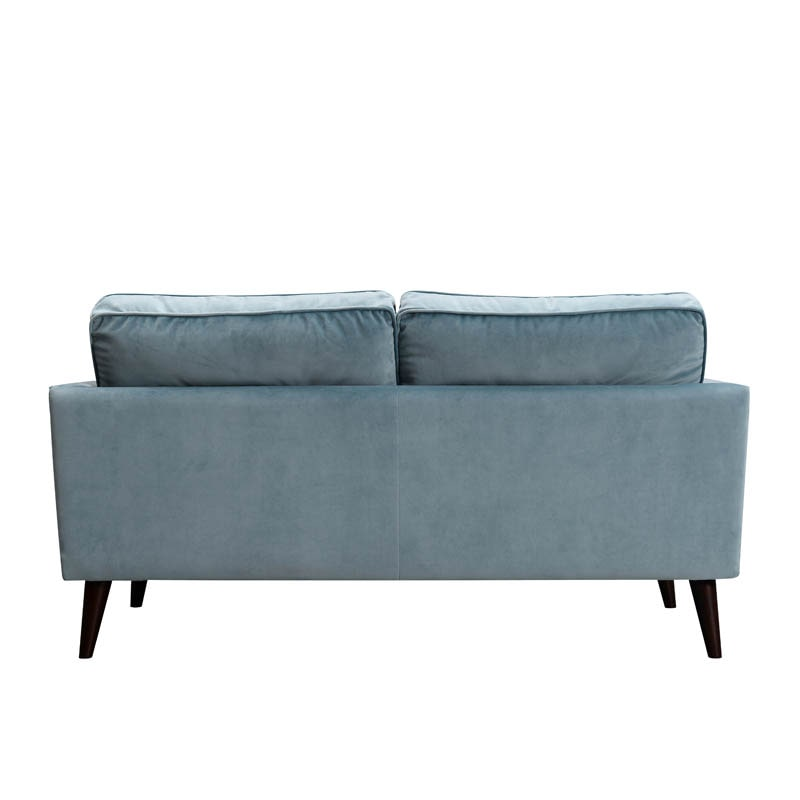 VELVET SOFA 2 SEATER L.BLUE