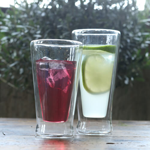 DOUBLE WALL GLASS TUMBLER 130ml