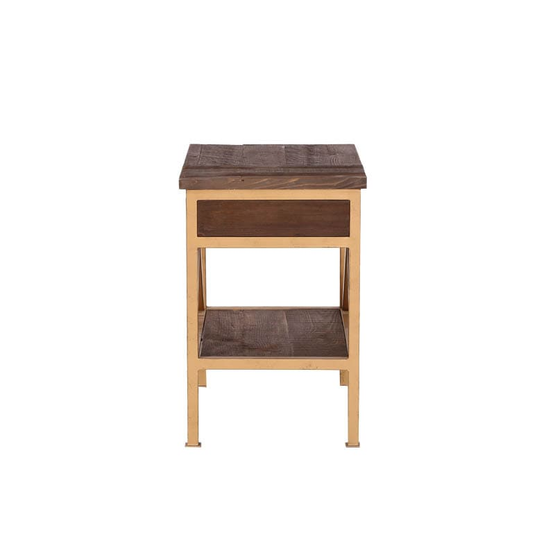 """DARCEY'' PINE SIDE TABLE"