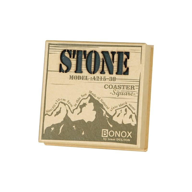 """STONE COASTER """"SQUARE"""" 4pcs/set"""