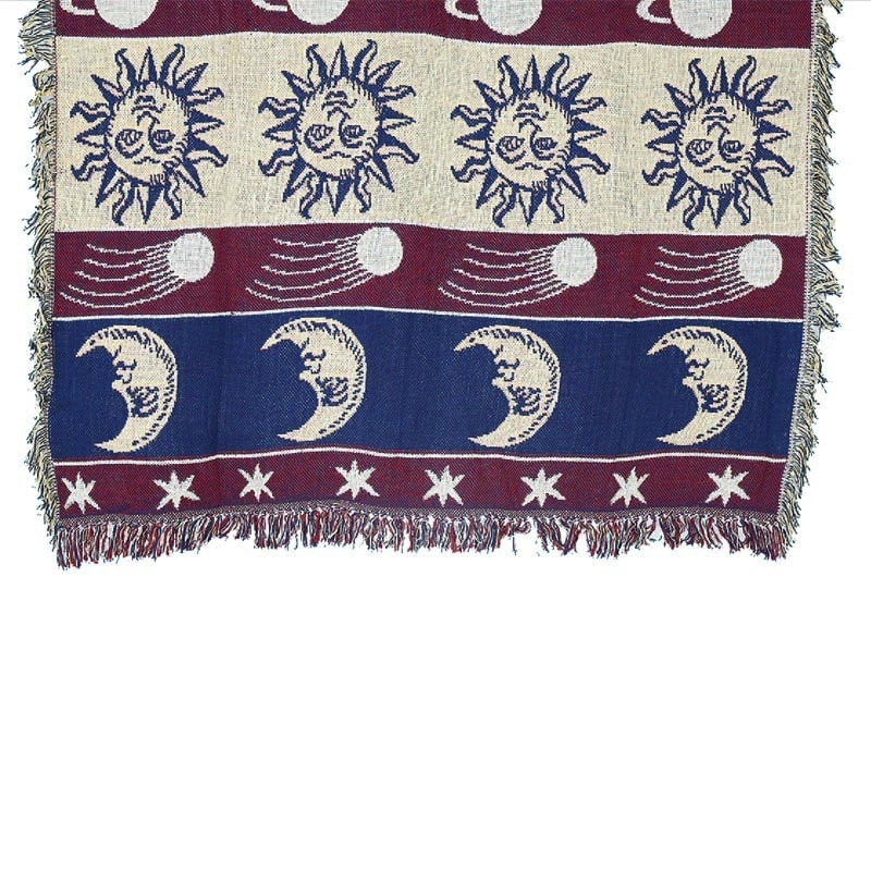 JACQUARD THROW ''ASTRONOMY''