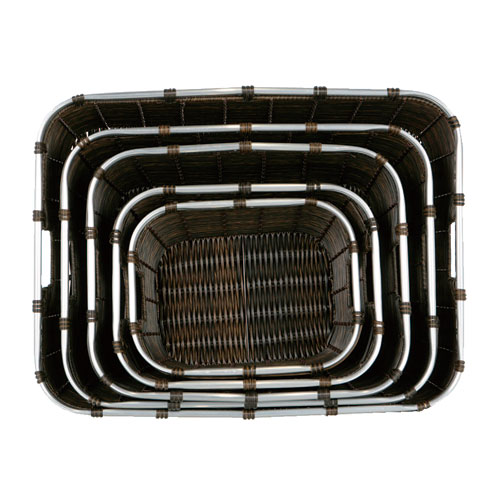 ARTIFICIAL RATTAN BASKET  L