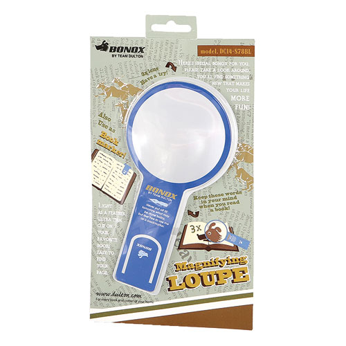 MAGNIFYING LOUPE WITH BOOKMARKER BL
