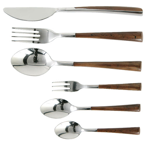 BOWED   CUTLERY BROWN D.FORK