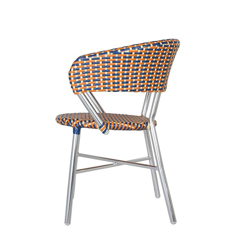 ALUMINUM ROUNDISH CHAIR BLUE/YELLOW