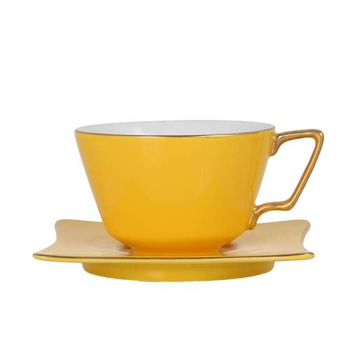 CUP & SAUCER Numelo 3 YEL