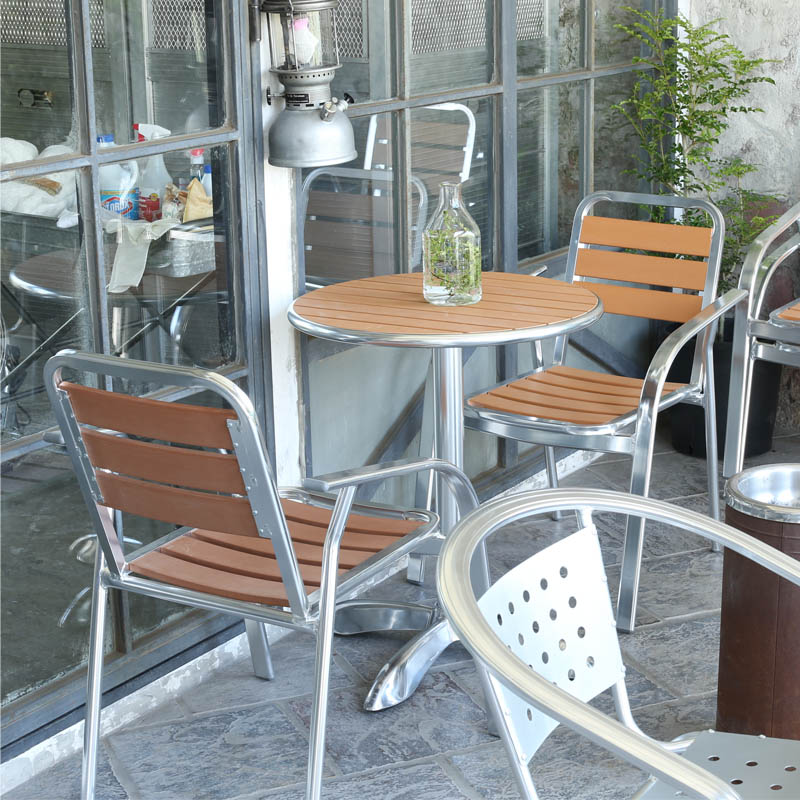 ALUMINUM CAFE CHAIR LBR