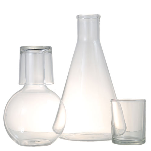 CONICAL CARAFE WITH CUP 1L