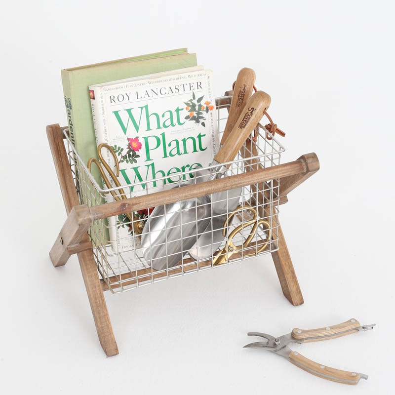 MAGAZINE RACK FIR WOOD