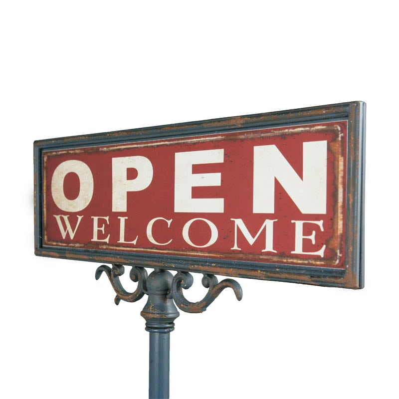 OPEN-CLOSED SIGN STAND