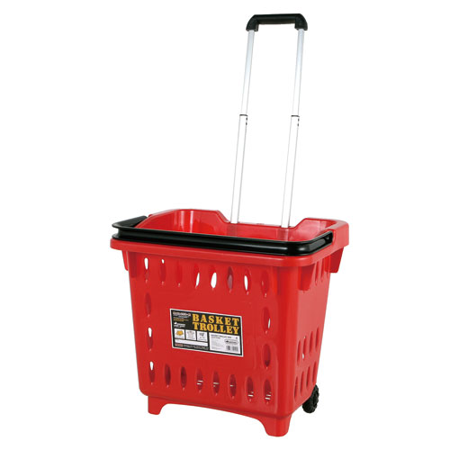 BASKET TROLLEY  RED