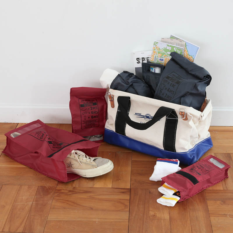 RPET PACKING BAG L RED