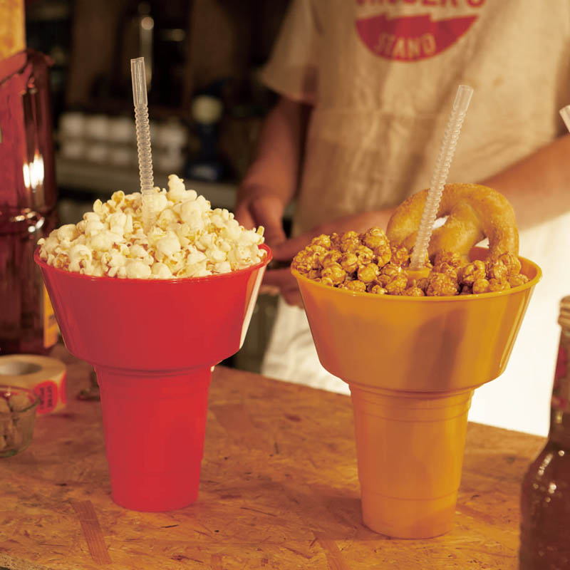 CARRY SNACK TUB WITH TUMBLER YELLOW
