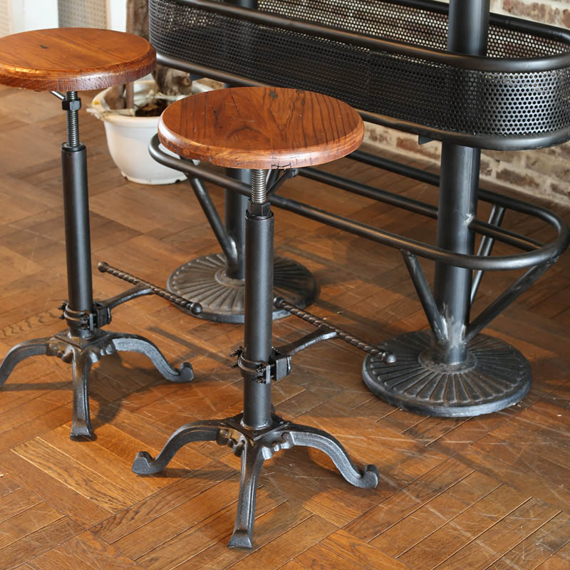 BAR STOOL ANTIQUE BLACK