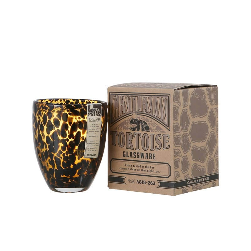 GLASS CUP GENTLEMEN TORTOISE B-AM